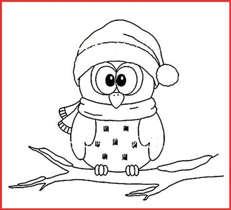 Malvorlage Eule Weihnachten - Malvorlagen und Ausmalbilder
