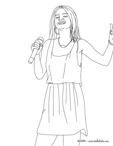 Car Year: selena gomez coloring pages