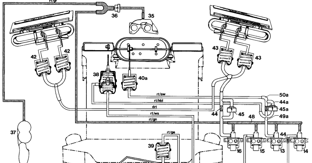 Vacuum line diagram Mercedes 380sl ~Owner Pdf Manual