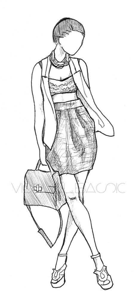 VisualBasic: Blogger Sketch Sunday [Eveline Fashion-Diary]