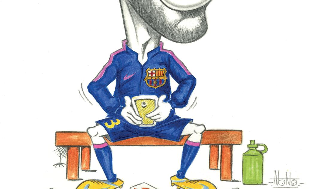 mesqueunclub.gr: Caricature: Pique