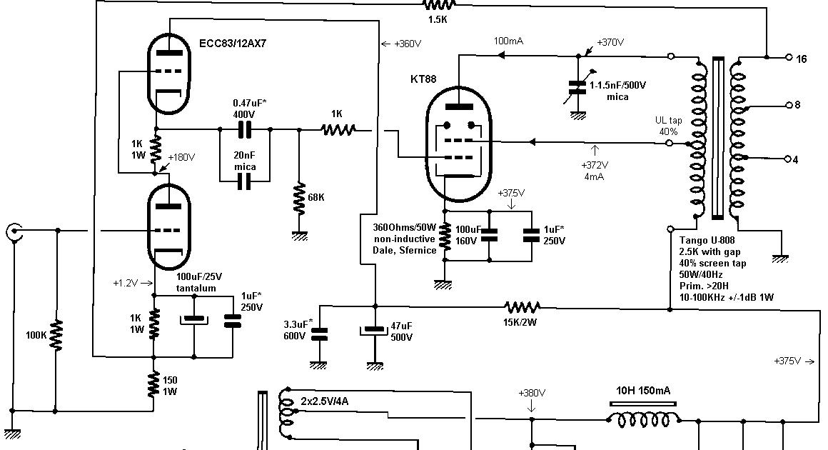 Jean Hiraga 12AX7 (ECC83) Single-Ended KT88 Tube Amplifier