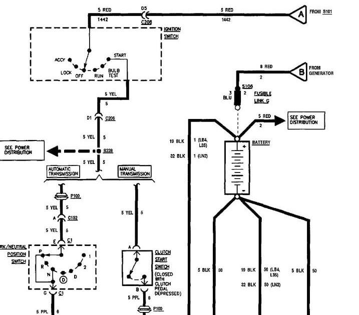 Chevy S10 Wiring Diagram : 1994 S10 Radio Wiring Diagram