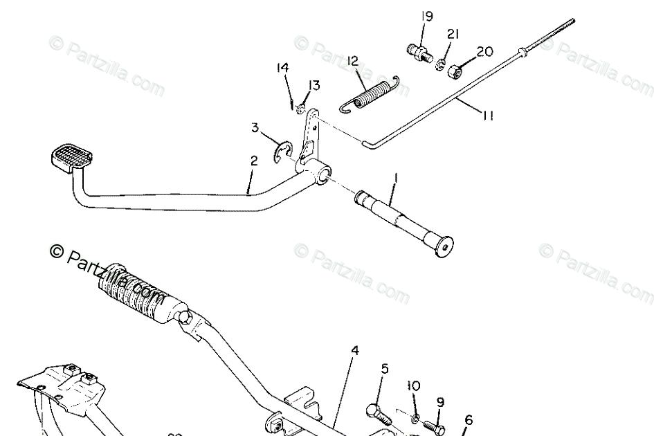 Yamaha 250 4 Wheeler Engine Diagram / Yamaha Yfb250d