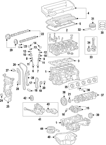 Wiring Diagram: 35 2002 Toyota Camry Parts Diagram