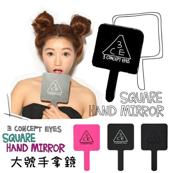 【暢銷排行】3CE化妝鏡 - 3CONCEPT EYES 正韓手柄化妝鏡手拿鏡(大號) ?AN SHOP?