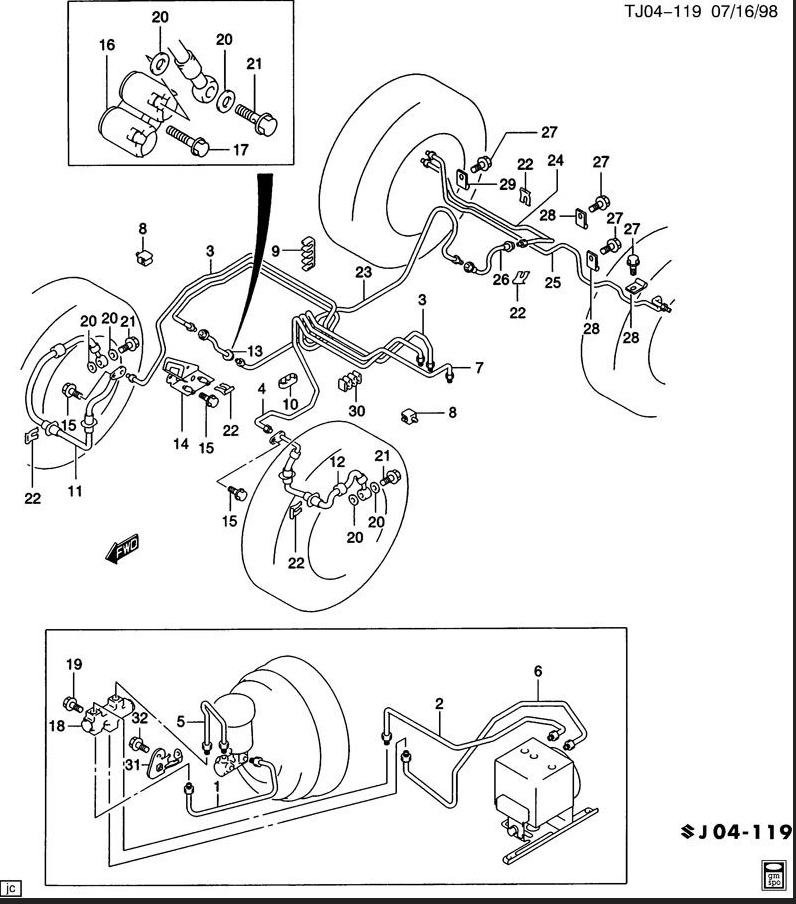 Wiring Diagram: 30 S10 Brake Line Diagram
