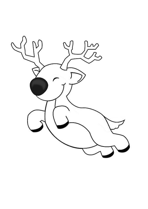 Malvorlage Rudolf