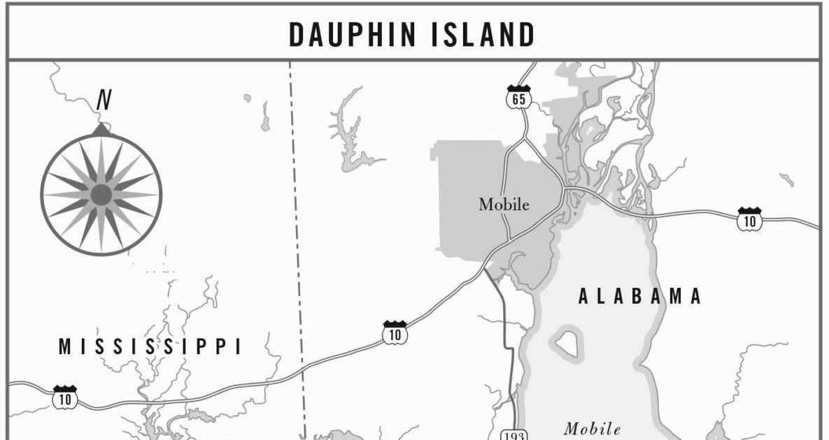 Dauphin Island Beach Map