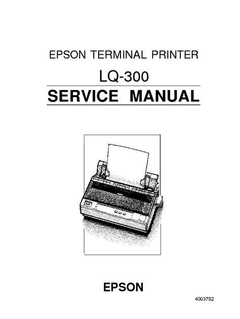Download AudioBook epson lq 300 printer service manual PDF