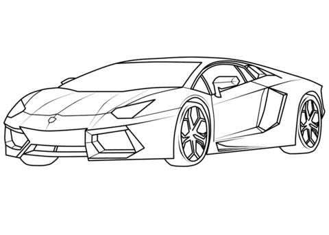 Ausmalbild Lamborghini Aventador Kinder Ausmalbilder