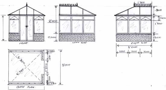 Green House 2016: GREENHOUSE DRAWING PLANS