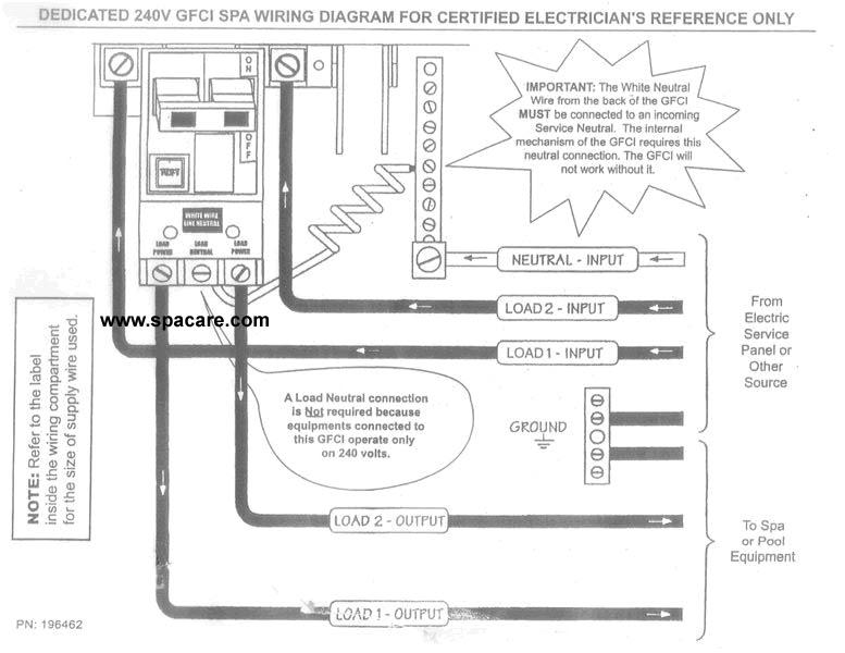 Hot Tub Internal Wiring Diagram