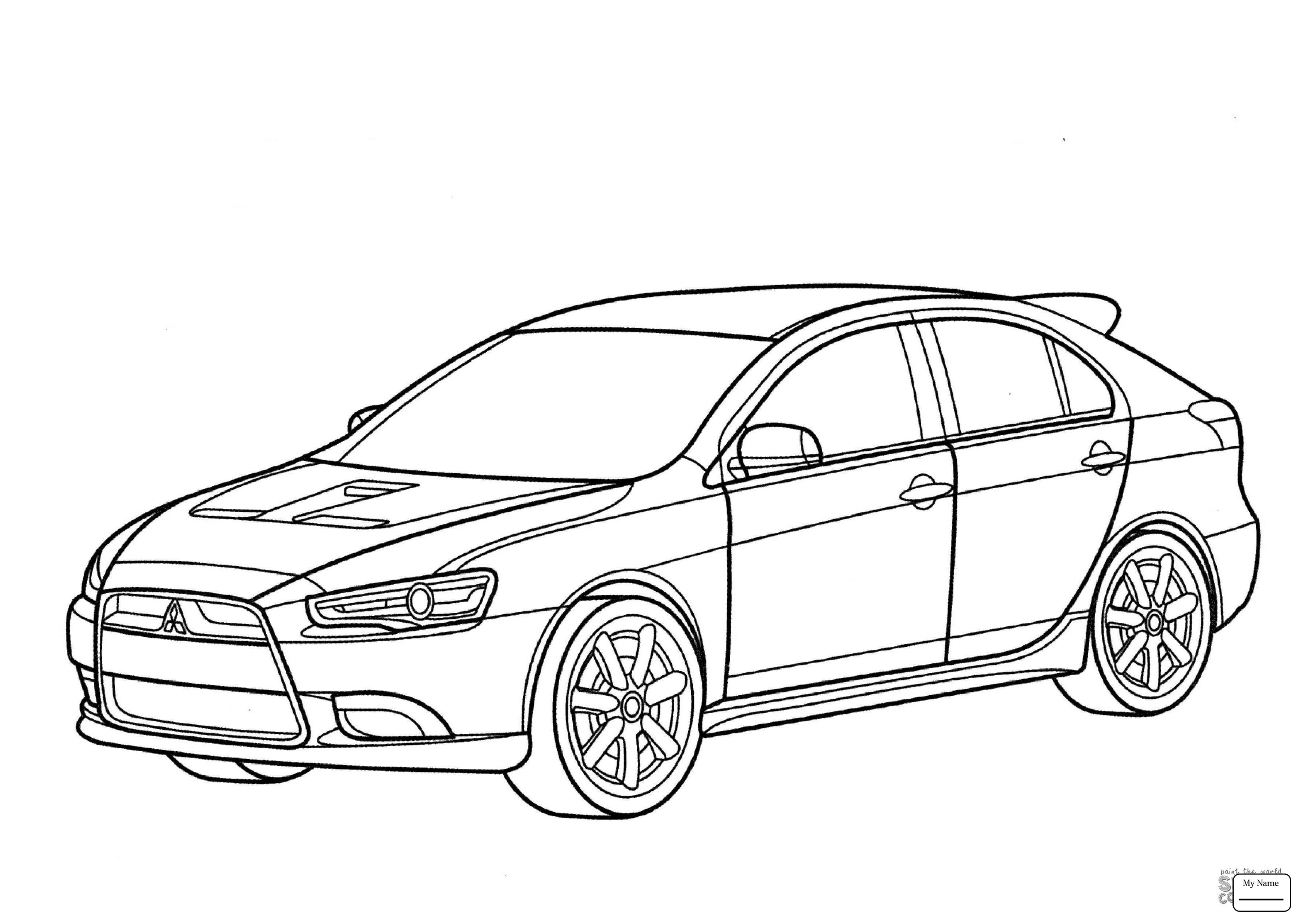 Supercars Gallery: Mitsubishi Eclipse Drawing