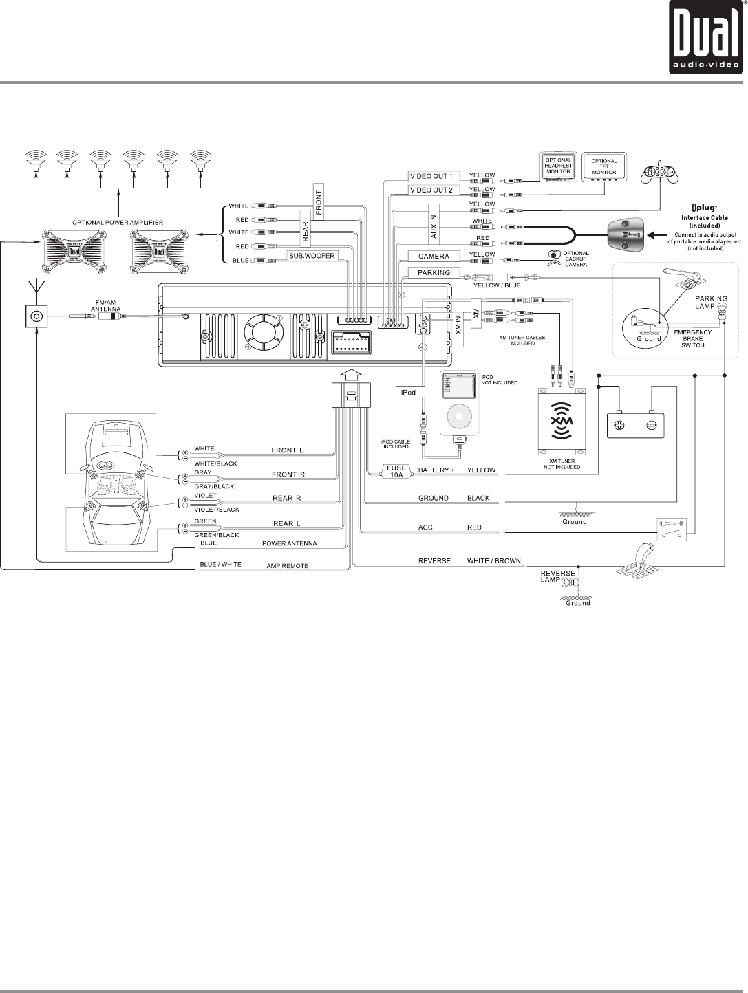 Dual Car Radio Wiring Diagram