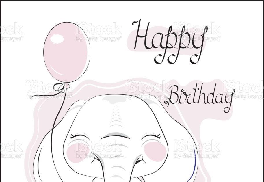 Elefant Mit Luftballon Zum Ausmalen - Malvorlagen