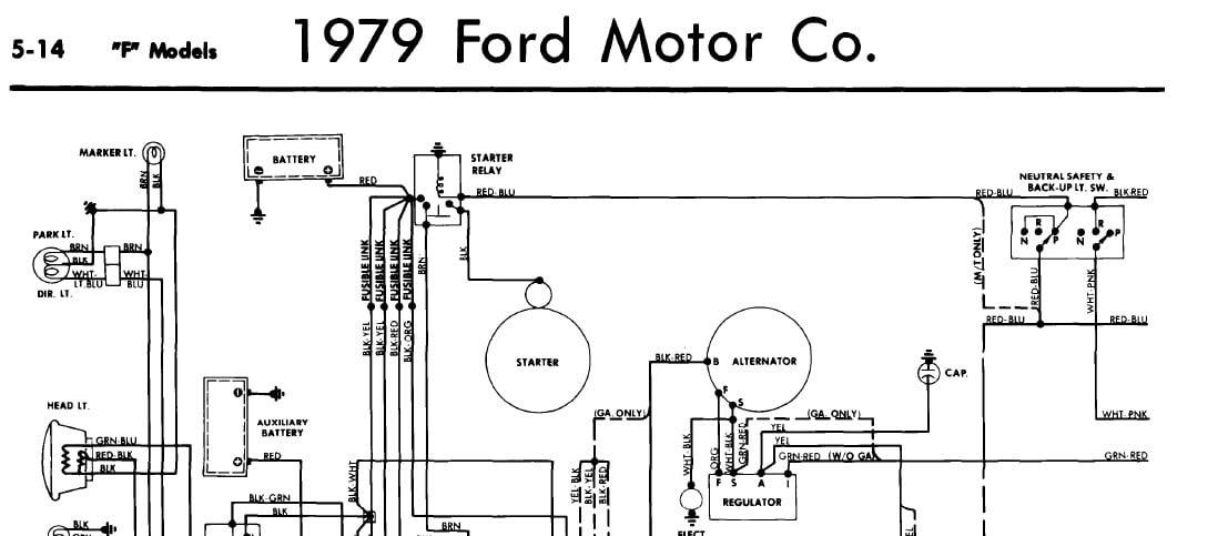 1977 Ford F100 Alternator Wiring Diagram / 77 Ford Wiring