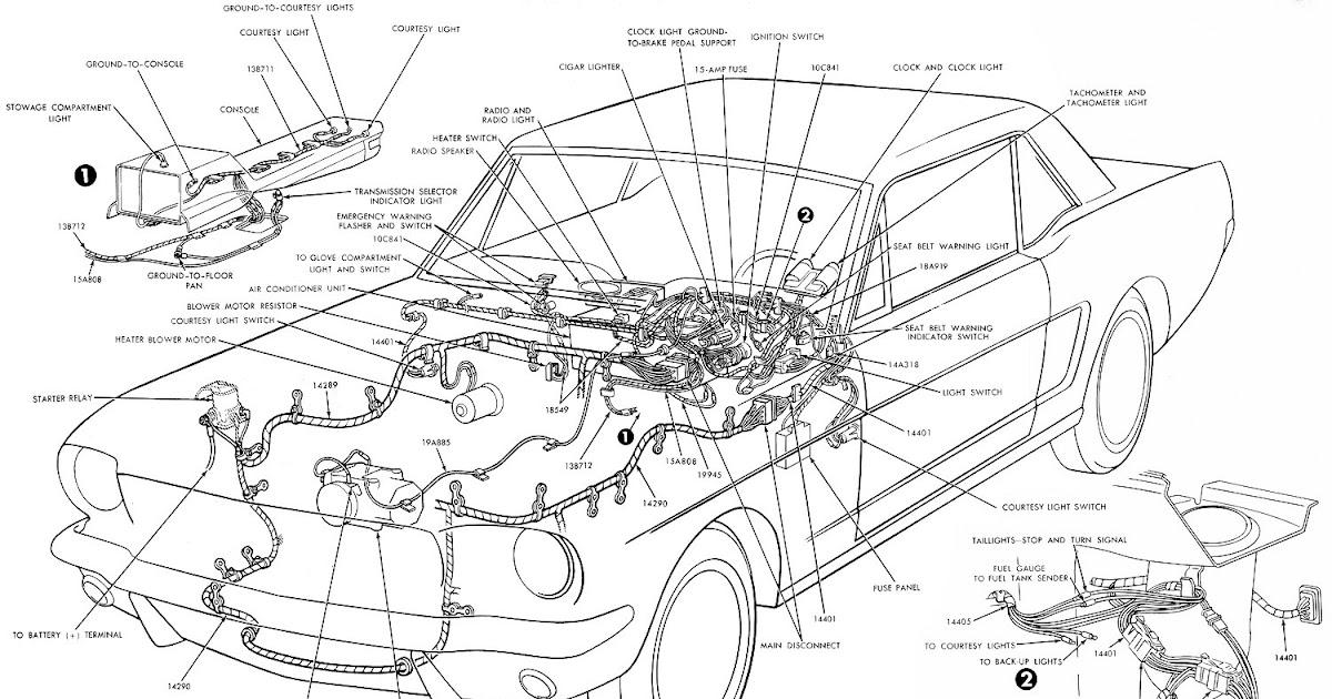 67 Mustang Turn Signal Switch Wiring Diagram
