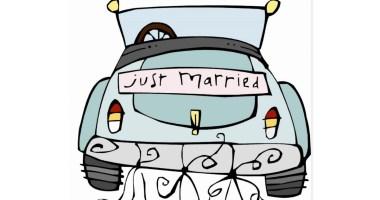 Druckvorlage Just Married Auto Vorlage Zum Ausdrucken ...