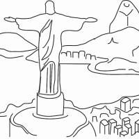 Desenho Do Cristo Redentor Para Colorir