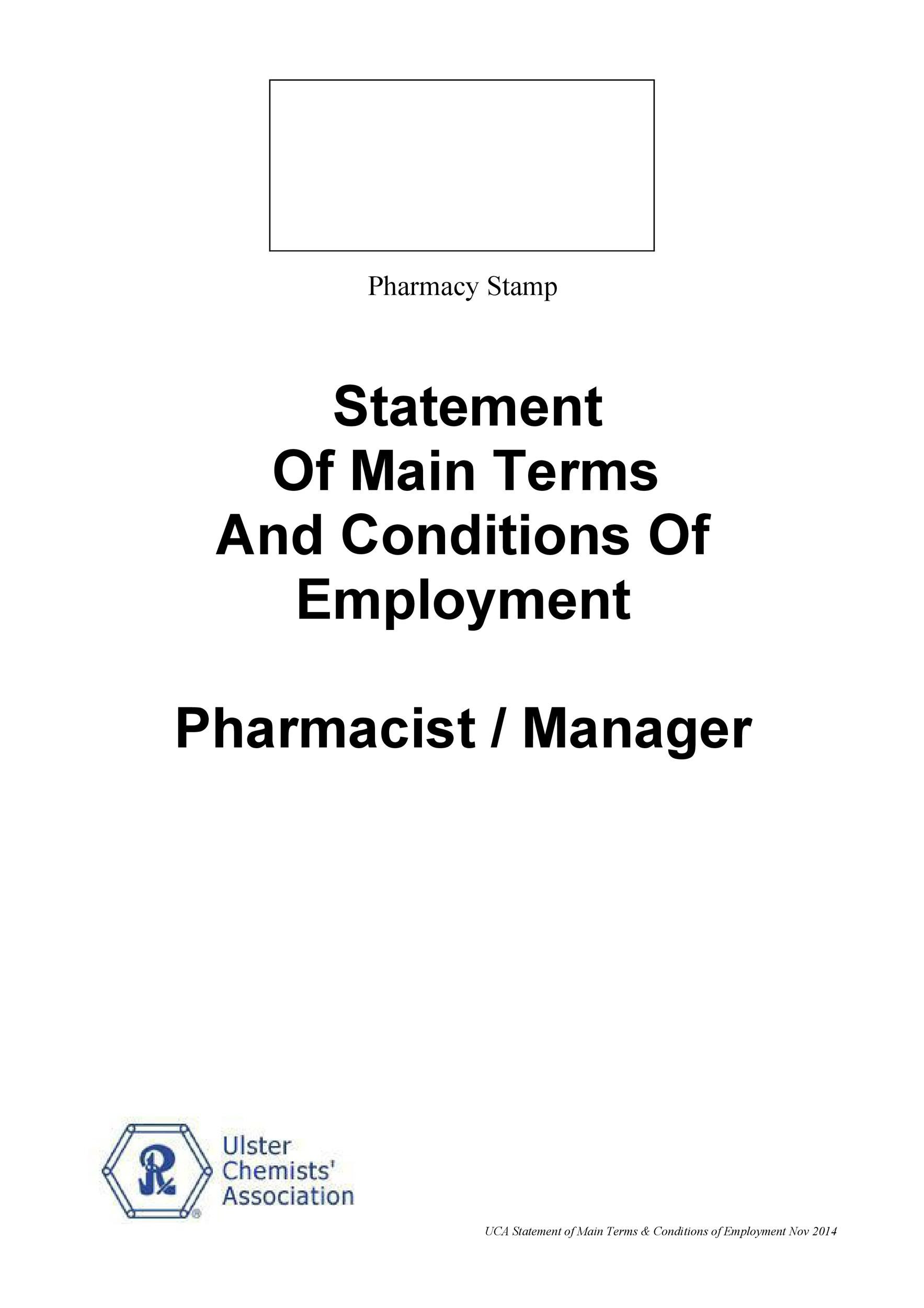 Pharmacy Employment Agreement Template Resources
