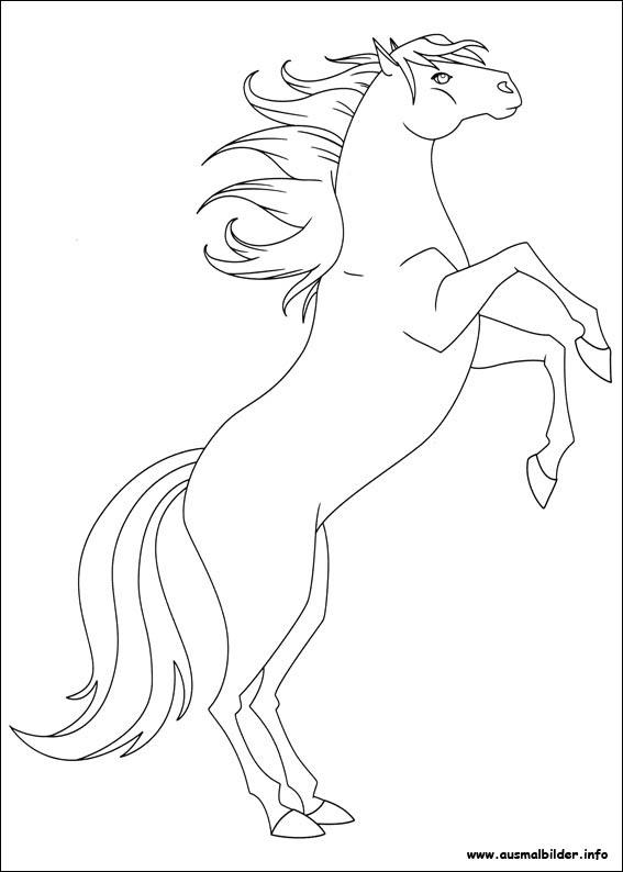 Ausmalbilder Pferde Lenas Ranch - x13 ein Bild zeichnen