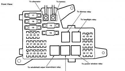 1993 Honda Accord Brake Light Wiring Diagram : 1993 Honda