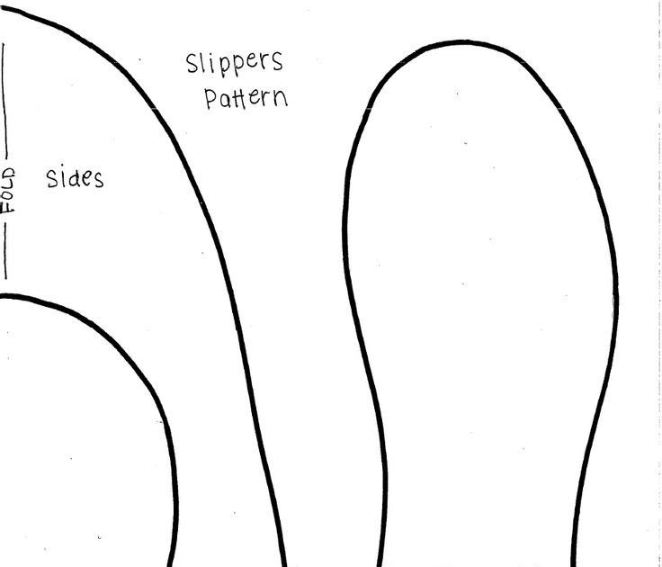 Printable Free Slipper Sewing Pattern