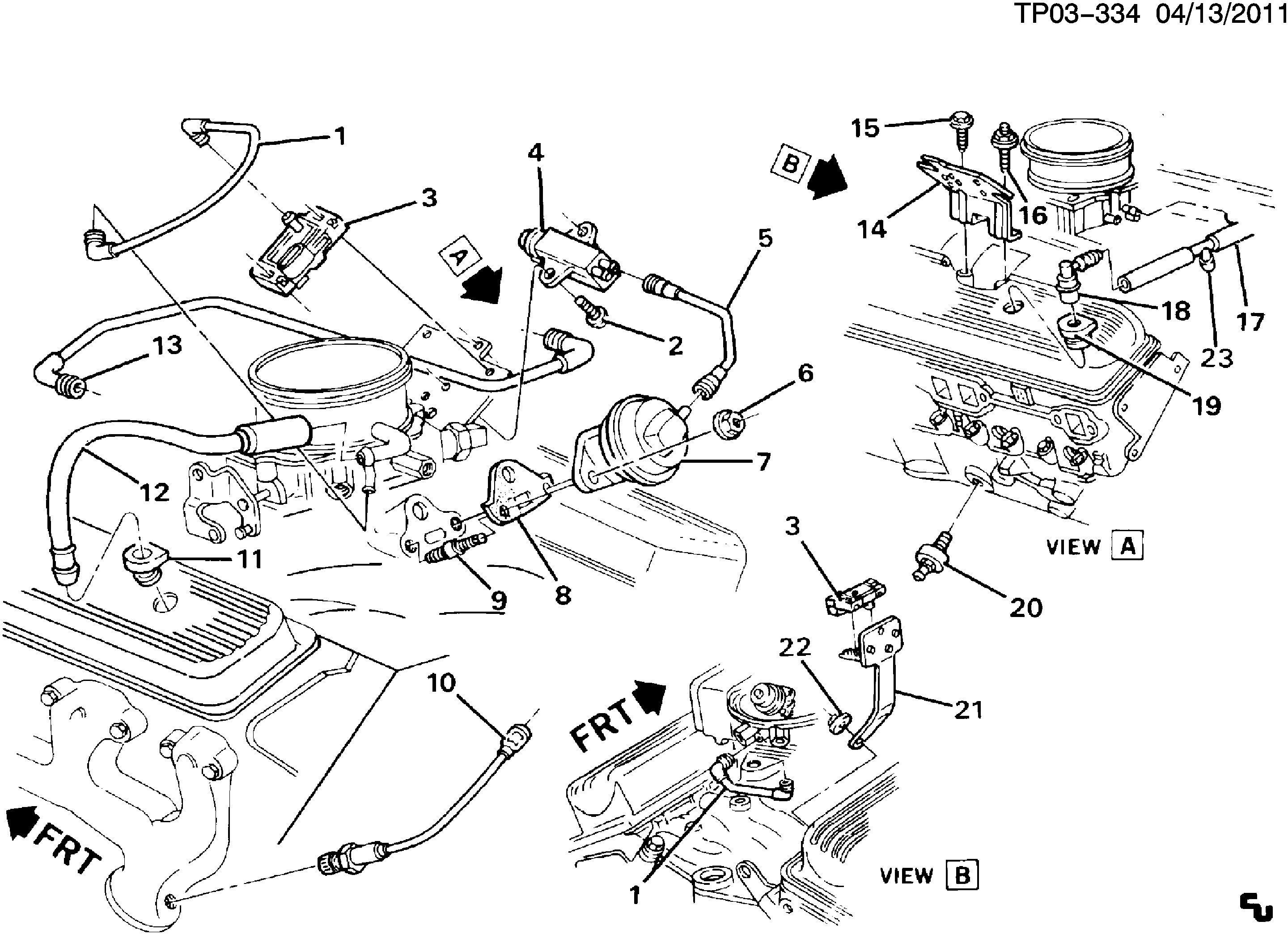 Wiring Diagram Database: Chevy 350 Engine Parts Diagram