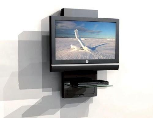 Mobile a parete porta lcd plasma tv con ripiano per dvd