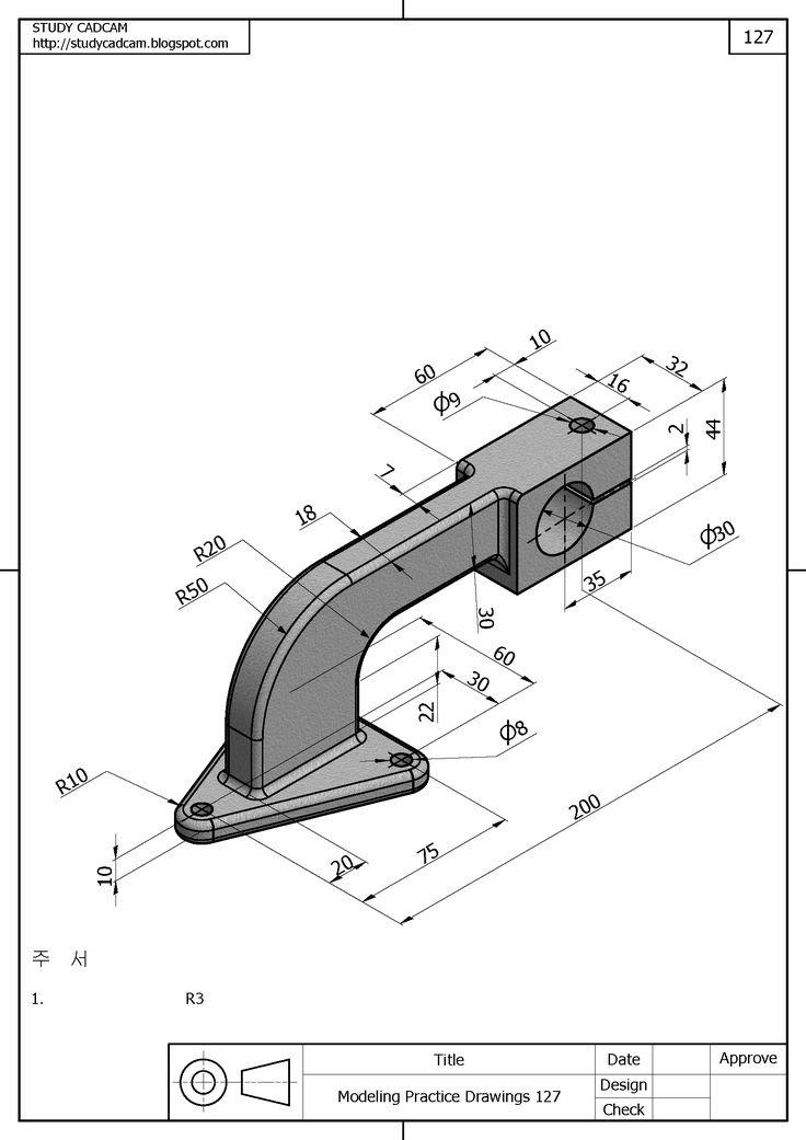 Lathe Machine 2d Cad Drawing