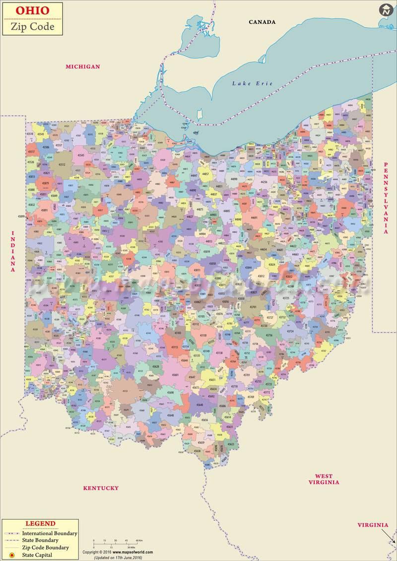 Us Postal Service Zip Code Map