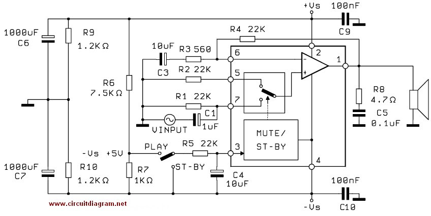 5 1 subwoofer circuit diagrams
