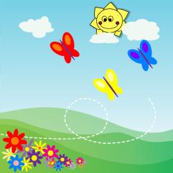Spring Flower Garden Cartoon The Design Interior