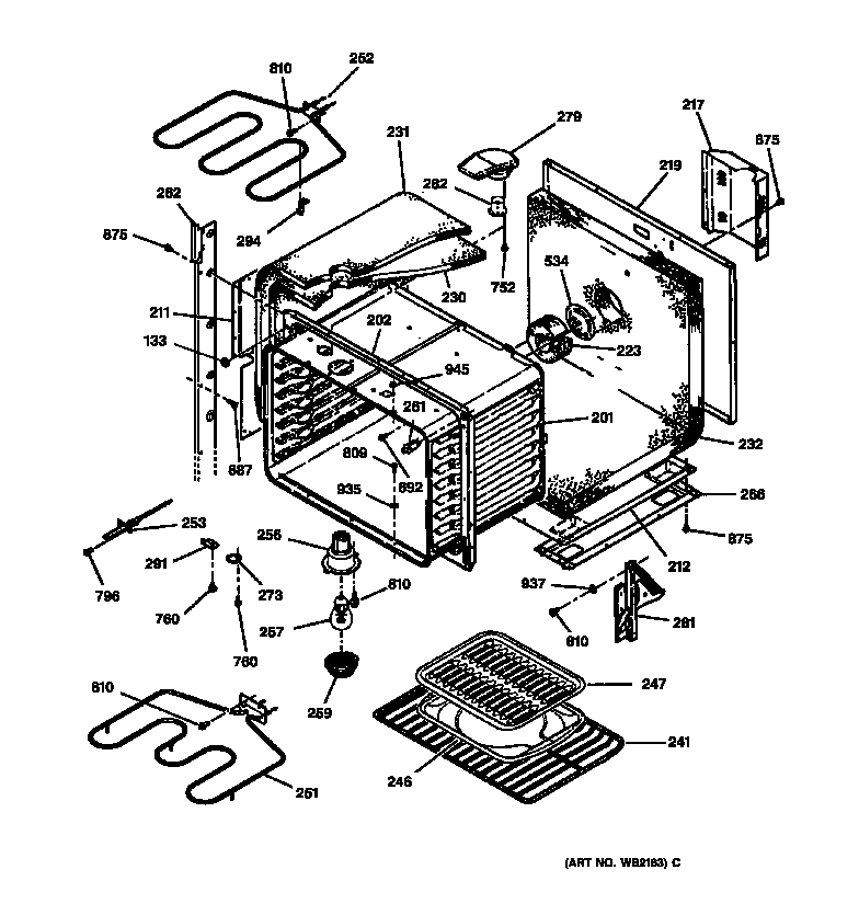 Wiring Diagram: 32 Ge Wall Oven Parts Diagram