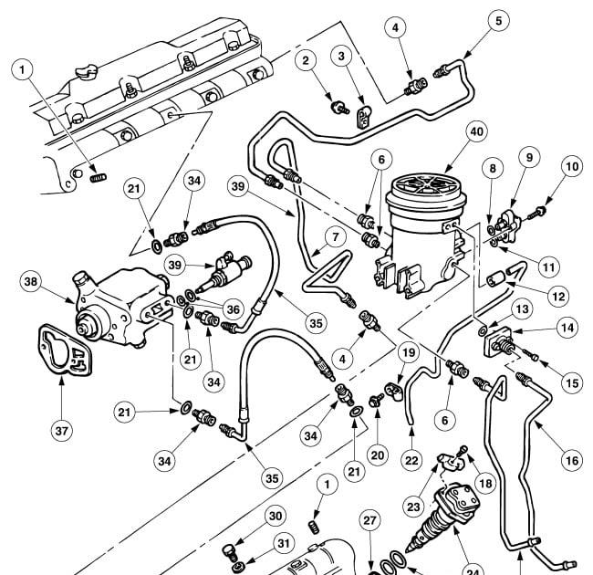 Wiring Diagram Database: 73 Powerstroke Fuel Line Diagram