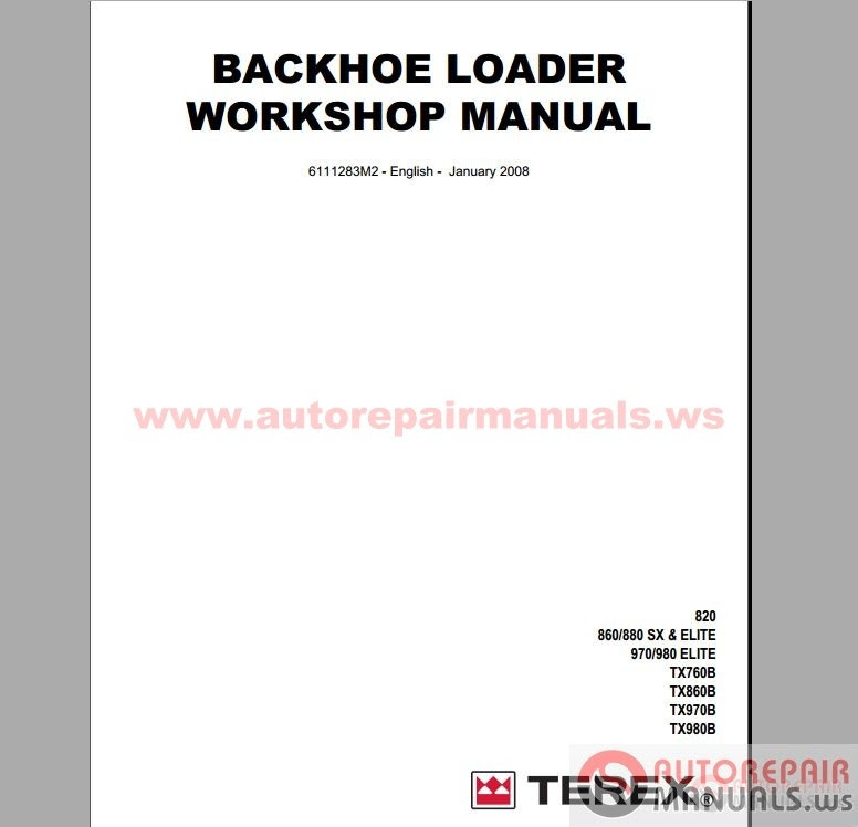 Auto Repair Manuals: Terex All Set Service Manual