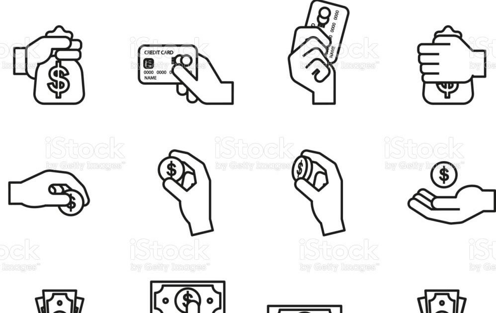 Hand Hold Money Bag Vector Icon Stock Vector Royalty Free