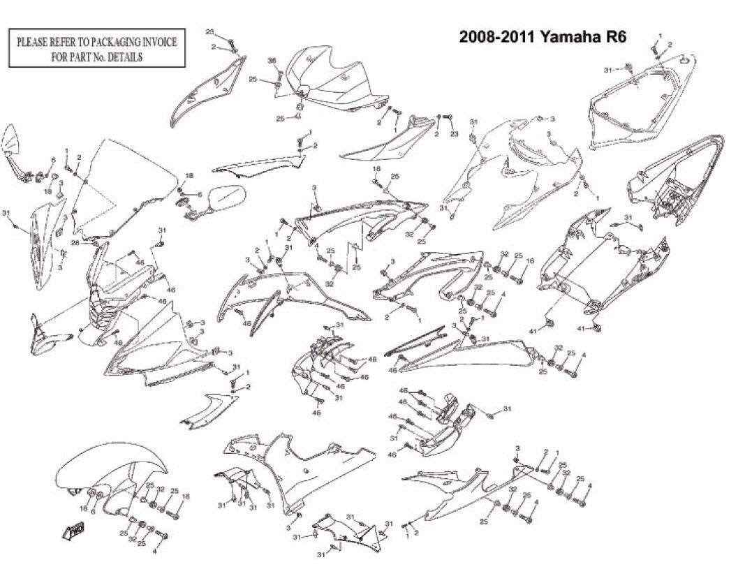 Wiring Diagram: 33 2006 Yamaha R6 Parts Diagram