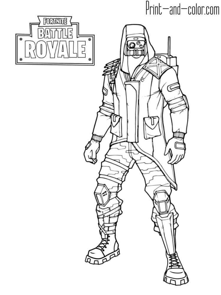 Fortnite Season 9 Skins Coloring Pages