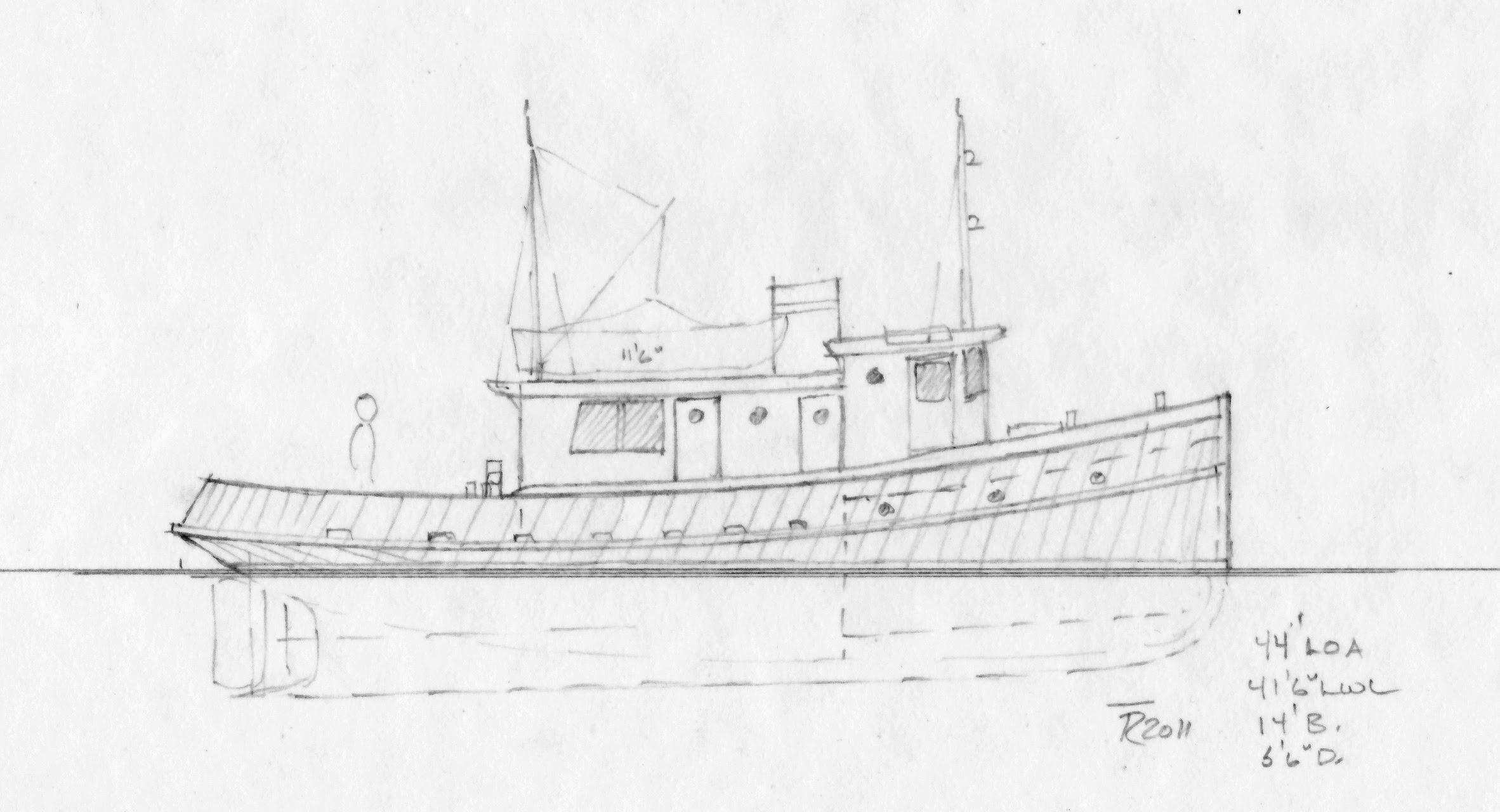 Plywood tug plans ~ Sailing Build plan