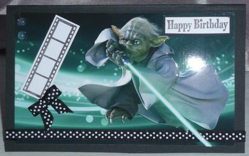 carte bon anniversaire star wars star