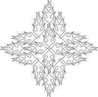 Adult Coloring Books & Designs: Tribal Flames Tattoo