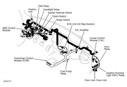 1998 Ford Ranger Fuel Pump Relay Location