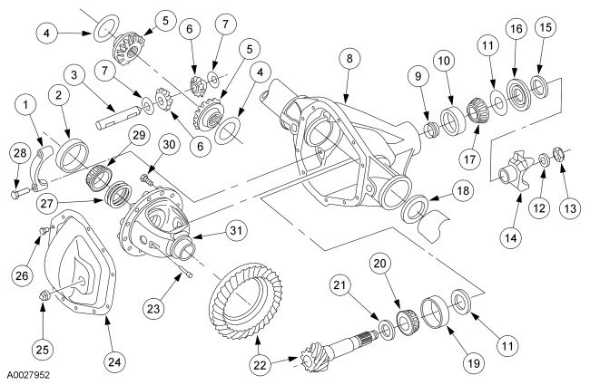 Ford F350 Front Axle Schematic