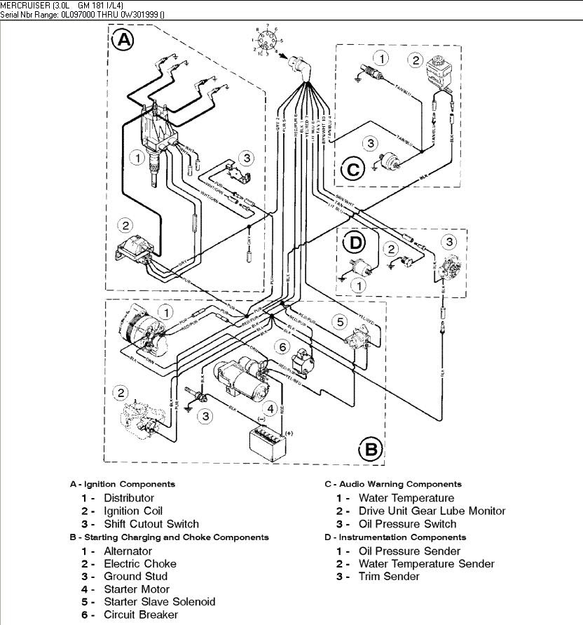 Wiring Diagram For Mercruiser 4 Cyl Engine