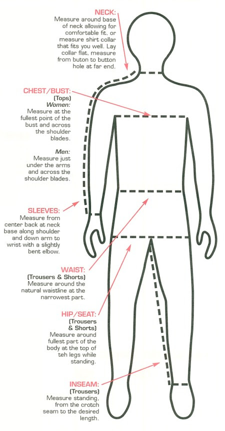 Navy Uniforms: Navy Uniform Sizing Chart