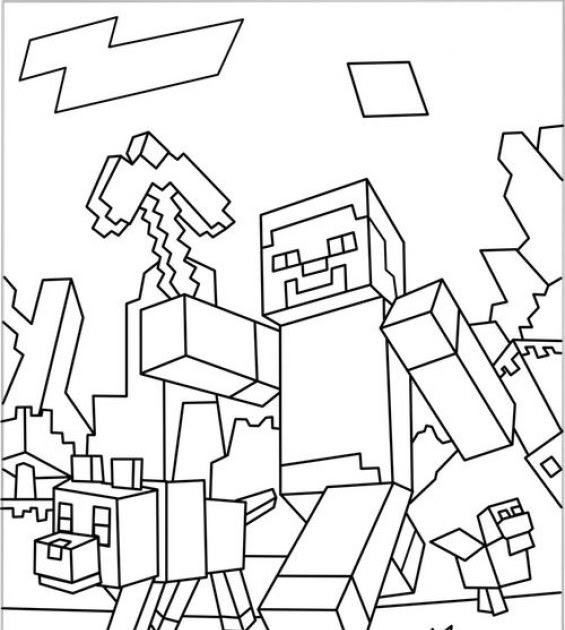 Coloring pages kids: Minecraft Pages To Print And Color