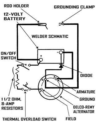 Simple Alternator Welder Wiring Diagram