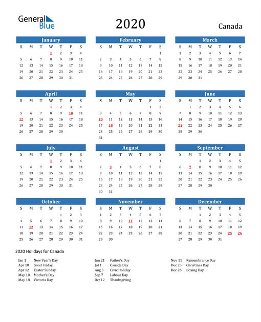 Large Print Calendar 2021 Canada | 2022 Calendar